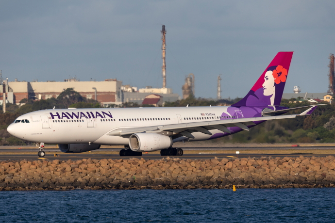 Honolulu Airport is the main hub of Hawaiian Airlines.